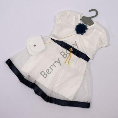 Elegant Dress for Little girls- Darkblue-White Size: 1 year