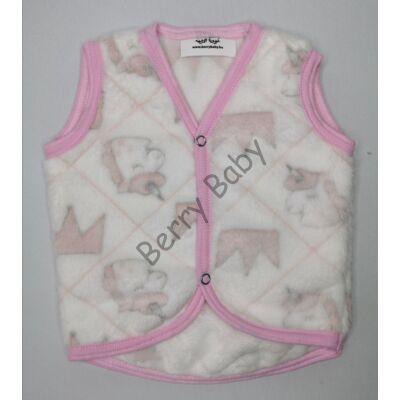 Berry Baby wellsoft vest- White Unicorn 1-2 years