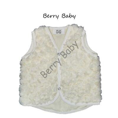 Berry Baby wellsoft vest- Rose-shaped Fur Cream 1-2 years