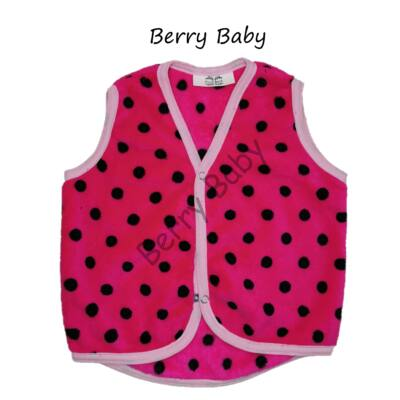 Berry Baby wellsoft vest- Pink- Black 1-2 years