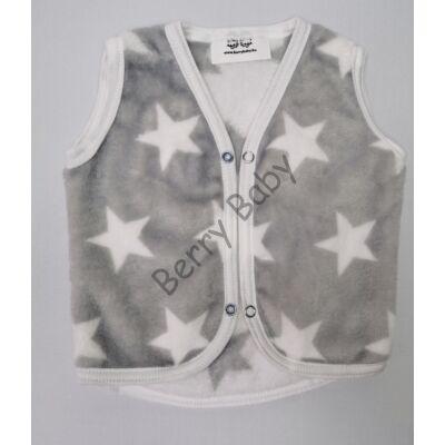 Berry Baby wellsoft  vest- Gray- White Stars 6-12 months