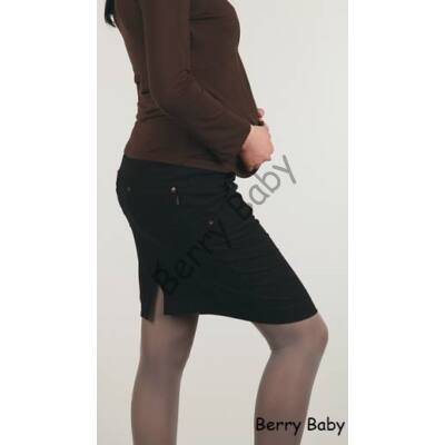 Black Maternity Midi Jeans Skirt-L