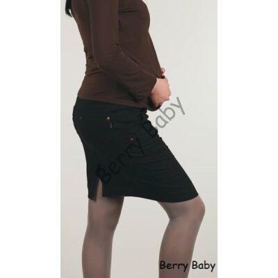 Black Maternity Midi Jeans Skirt-M