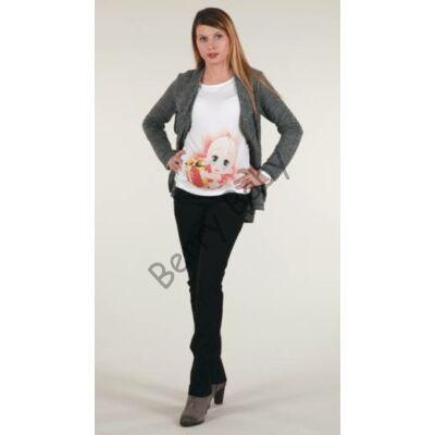 Elegant Maternity Cardigan-Gray XL size