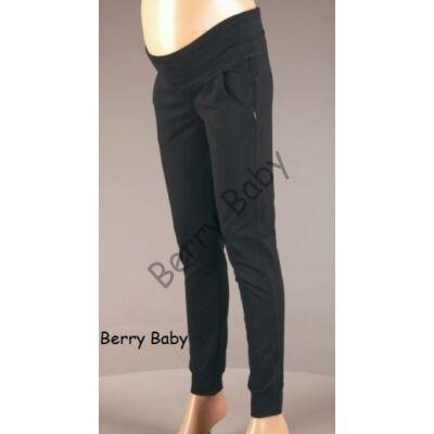 Mid-Rise Cotton Maternity Trousers: Black XL