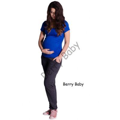 Cotton Maternity Trousers Tight Cut: Grafite S