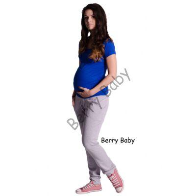 Cotton Maternity Trousers Tight Cut: Light Gray M