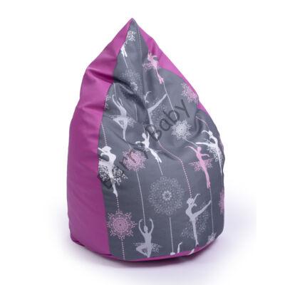 Drop-Shaped Bean Bag- Pink ECO Leather- Wonderful Ballerina