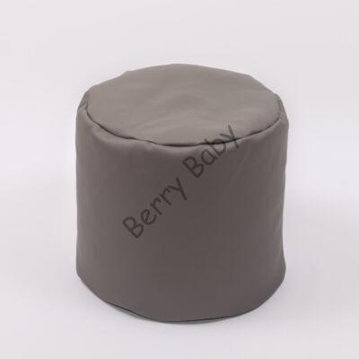 Bean Bag Pouffe: Stone Gray Eco Leather