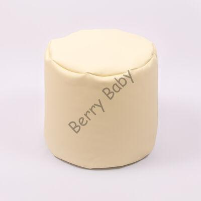 Bean Bag Pouffe: Beige Eco Leather