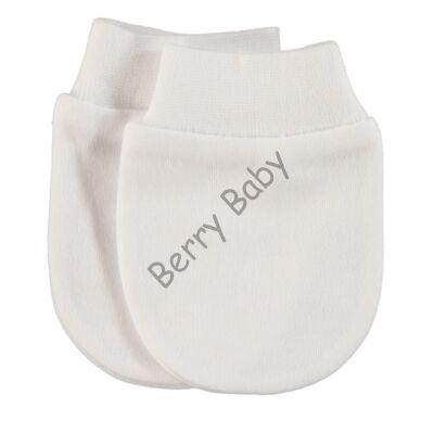 Newborn anti-scratch mittens- white