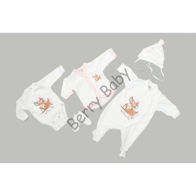 Premium 5 pieces homecoming clothes set- BAMBI- 50 (newborn)