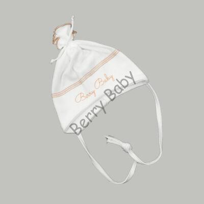Cotton Hat: White- Beige 50
