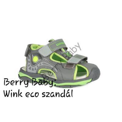 Wink eco- baby and child sandals- Gray-Green Size:22