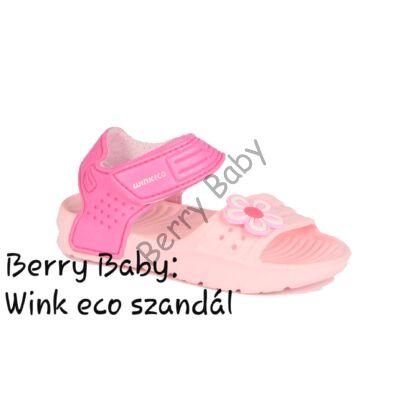 Wink eco- little girl sandals- ROse-PInk : Size: 27
