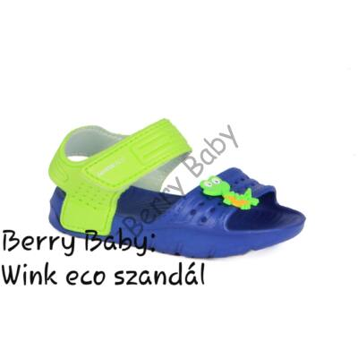 Wink eco- little boy sandals- Blue- Green : Size: 24