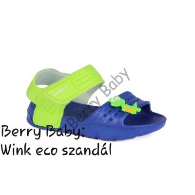 Wink eco- little boy sandals- Blue- Green : Size: 26